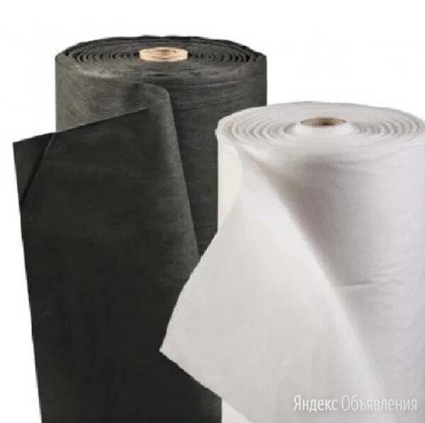 Спанбонд геотекстиль нетканое полно в рулонах белый и чёрный по цене 11₽ - Укрывной материал и пленка, фото 0