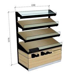 Витрины - Витрина для хлеба и выпечки стеллаж, 0