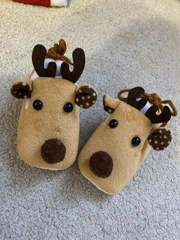 Носки - Пинетки, тапочки новогодние , 0