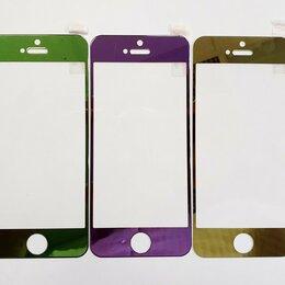 Защитные пленки и стекла - Цветное защитное стекло iPhone 5S/SE., 0
