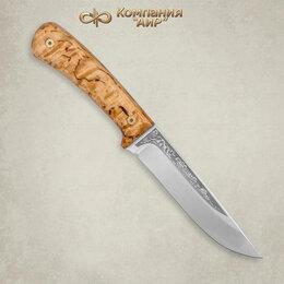 Аксессуары и комплектующие - Нож Лиса Златоуст из стали 95х18 карельская берёза, 0