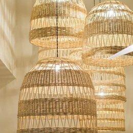 Люстры и потолочные светильники - Плетеные люстры абажуры светильники, 0