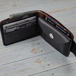 Кошельки - Компактное портмоне из двух видов кожи Шью из кожи, 0