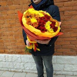 Цветы, букеты, композиции - Хризантемы кустовые букет, 0