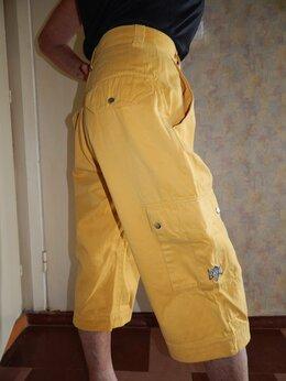 Брюки - Бриджи-кюлоты желтые из плотного хлопка, 0