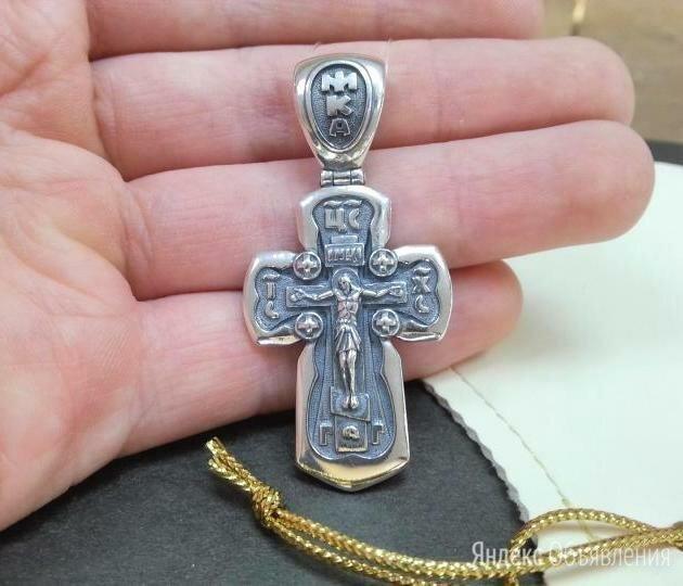 Серебряный большой крест • Мужской, проба 925° с чернение по цене 4890₽ - Кулоны и подвески, фото 0