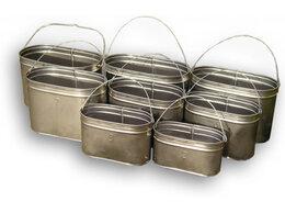 Туристическая посуда - Котелки костровые из нержавейки , 0