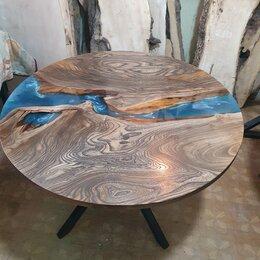 Столы и столики - Стол обеденный круглый Стол река Стол из массива, 0