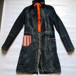 Плащи - Трендовый джинсовый кардиган/плащ/пальто р44-46, 0