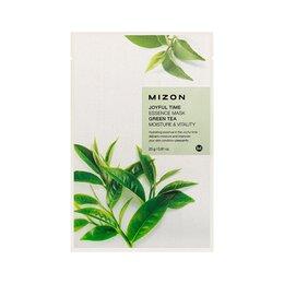 Маски -  Тканевая маска для лица MIZON Joyful Time Essence Зеленый чай, 0
