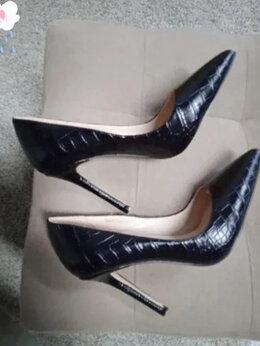 Туфли - Супер-шпильки с эффектом крокодиловой кожи, 0