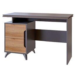 Столы и столики - Стол письменный Сканди нновый с доставкой в рассрочку (серый графит+орех лион), 0