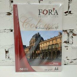 Бумага и пленка - Глянцевая 220 гр А4 50 листов Fora, 0