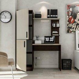 Стеллажи и этажерки - Тесса СБ-2737 Стеллаж со столом Венге Камиро/Дуб…, 0