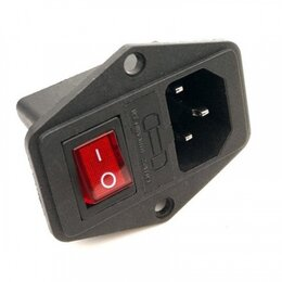 Блоки питания - Гнездо питания с выключателем и предохранителем AC-014, 0