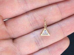 Кулоны и подвески - Золотая подвеска - кулон Треугольник, проба 585, 0