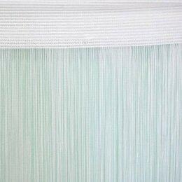 Шторы -    1мм Нитяные шторы Portgallery нити однотонные 3х2.85м плотные, 0