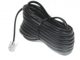 Кабели и разъемы - Кабель телефонный аппарат-розетка TC6P4C-5M-BK 5 м, 0