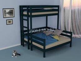 Диваны и кушетки - Кровать двухъярусная трехспальная Уют, 0