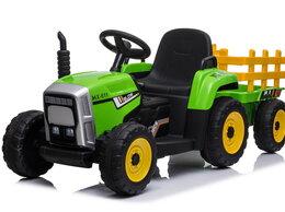 Электромобили - Детский электромобиль трактор с прицепом, 0