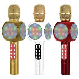 Микрофоны - Караоке микрофон светящийся ws-1816, 0