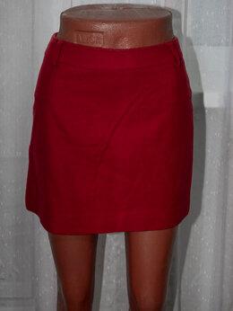 Юбки - Шерстяная красная юбка мини 42-44, 0