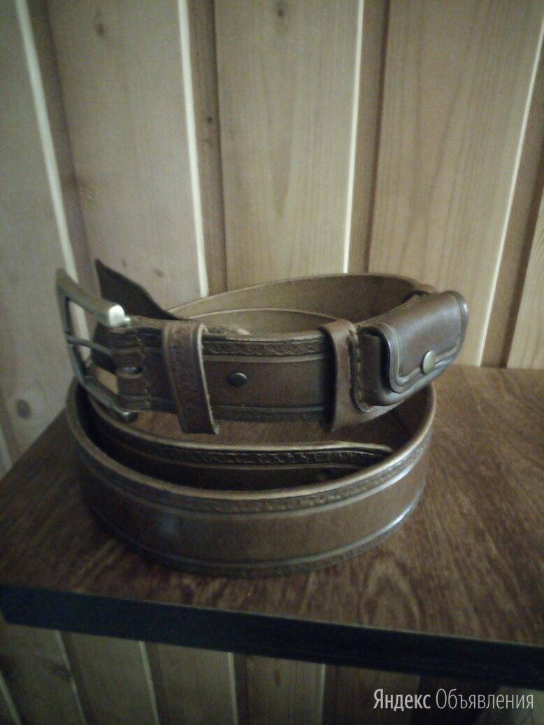 Кожаный ремень ручной работы по цене 3000₽ - Ремни и пояса, фото 0