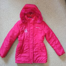 Куртки и пуховики - Куртка малиновая Outventure на весну, 128, 0