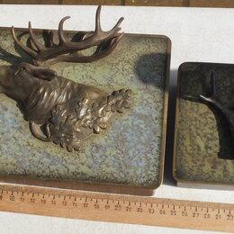 Шкатулки - шкатулки охотничья тематика,бронза,дерево,начало 20го века, 0
