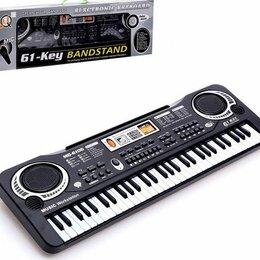 Клавишные инструменты - Синтезатор «Клавишник», с микрофоном, 61 клавиша, LED дисплей, от сети, 0