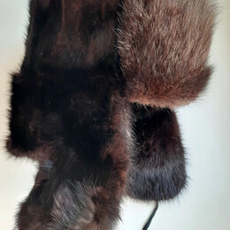 Головные уборы - норковая мужская шапка р 56-57, 0