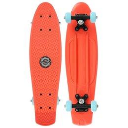 Скейтборды и лонгборды - Пенни борд 56 х 15 см, колеса PVC 50 мм, пластиковая рама, цвет оранжевый, 0