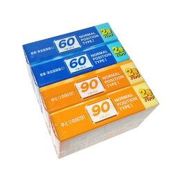Музыкальные центры,  магнитофоны, магнитолы - Компакт-кассета DAISO AN90, AN60 тип I, редкая, набор 8 штук, не вскрытые, 0