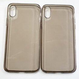 Чехлы - Чехол черный прозрачный iPhone X/XS., 0
