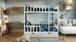 Кроватки - Двухъярусная кровать с ящиками, 0