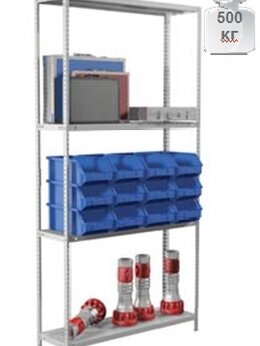 Мебель для учреждений - Стеллаж MS Standart металлический 185/70х30/4…, 0