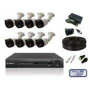 Камеры видеонаблюдения - Комплект уличного видеонаблюдения на 8 камер full, 0
