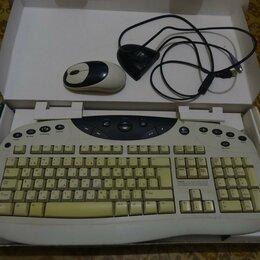 Комплекты клавиатур и мышей - Беспроводная мышь и клавиатура Logitech usb и Ps/2, 0