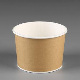 Одноразовая посуда - Креманка-салатник с крышкой «Крафт» 250 мл пачка…, 0