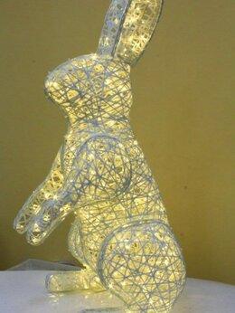 """Новогодний декор и аксессуары - Объемная фигура """"Заяц"""" - светодиодный, 0"""