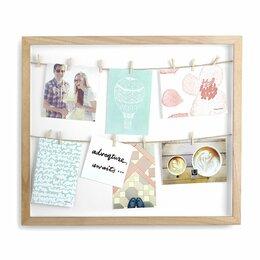 Фотоальбомы - Панно с зажимами для 12 фотографий clothesline…, 0