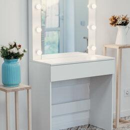 Столы и столики - Гримерный стол и гримерное зеркало с подсветкой, 0