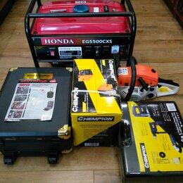 Электро- и бензопилы цепные - HONDA EG5500CXS;STIHL 660-50см СHEMPION 250A;KRAFTTECHNIK;инструмент,--105000руб, 0