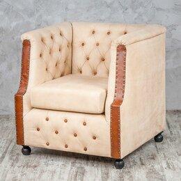 """Кресла - Кресло с мягкими подлокотниками бежевое """"Вильям"""", 0"""