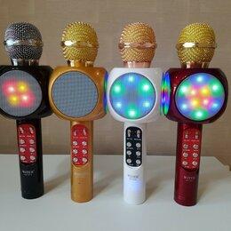 Микрофоны - Беспроводной микрофон караоке Bluethooth WS-1816, 0