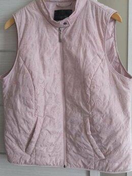 Жилеты - Легкий женский жилет розового цвета 50 размер, 0