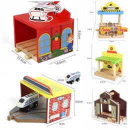 Детские железные дороги - Станции и здания для деревянной железной дороги. , 0