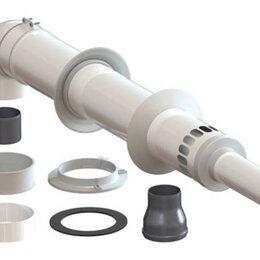 Дымоходы - Комплект коаксиального дымохода 60/100 мм Универсальный Антилед ТЕРМОХОД +  ..., 0