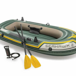 Надувные, разборные и гребные суда - Двухместная надувная лодка пвх для рыбалки новая, 0