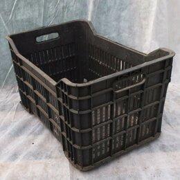 Корзины, коробки и контейнеры - Ящики пластиковые, черные 35х50х25, 0